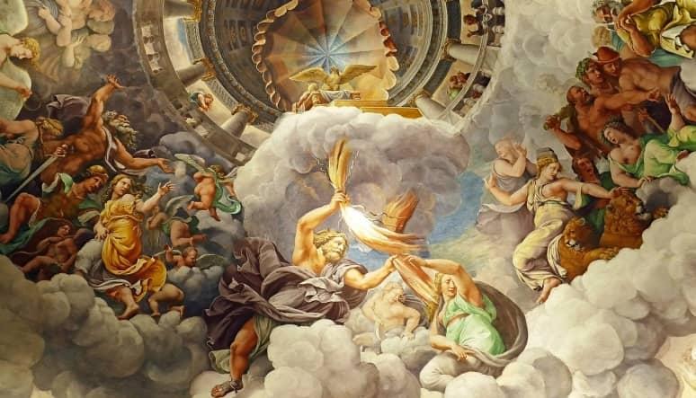 el dios júpiter en una pintura